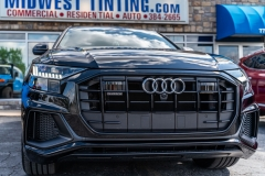 2019 Audi Q8 S Line Full Front Paint Protection Film with Lights Premium 20% Window Tint