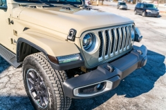 2020 Jeep Gladiator Overland 24 HF Lights and Grill Dark Satin Smoke Marker Lights and Xpel Fusion Plus Ceramic Coating
