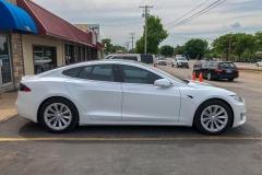 Chrome Delete On Tesla using Gloss White
