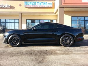 Elite Window Tint installed on Mustang by Midwest Tinting