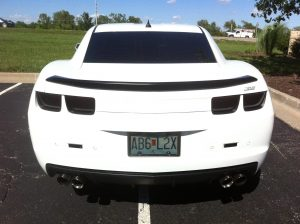 2014 Camaro with Charcoal Film for Tail Lights and Side Markers