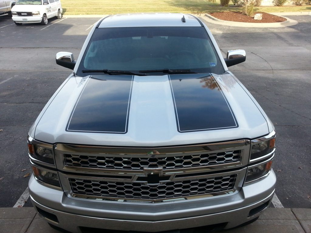 2014 Chevy Silverado 1500 Gets Vinyl Rally Stripes