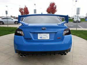Subaru WRX gets Charcoal Taillight Film