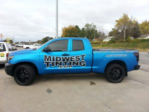 Tundra gets Full Flat Blue Metallic Wrap