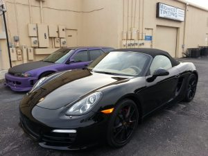 Porsche Boxster gets XPEL paint protection film on Full front end