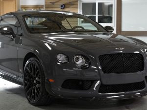Midwest Tinting added Elite 14% film to a 2015 Bentley GT3R