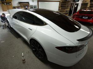 Midwest Tinting adds Elite 20% film to 2015 Tesla Model S