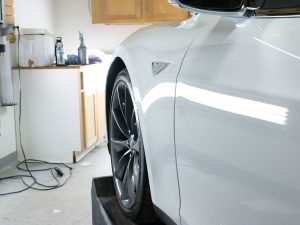 2015 Tesla Model S gets XPEL Paint Protection from Midwest Tinting