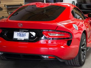 Midwest Tinting tinted a 2013 Dodge Viper with Elite 20%