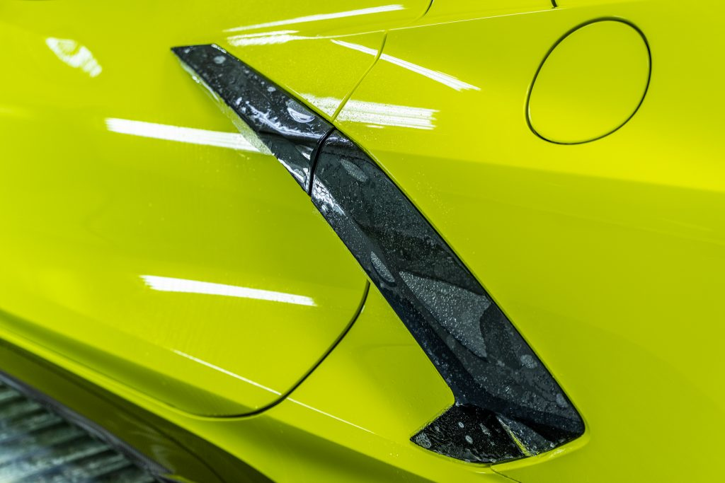 display of corvette after paint protection installation