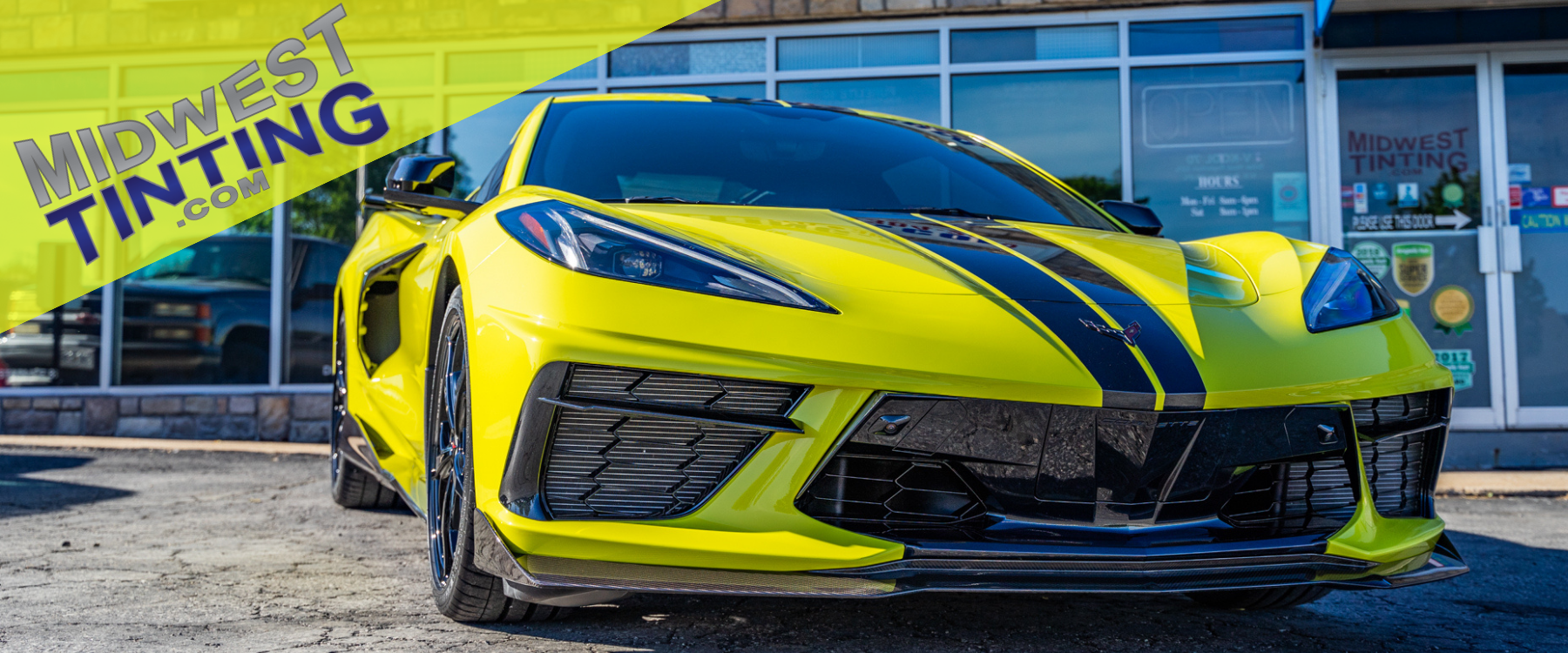 display of corvette after paint protection after completion