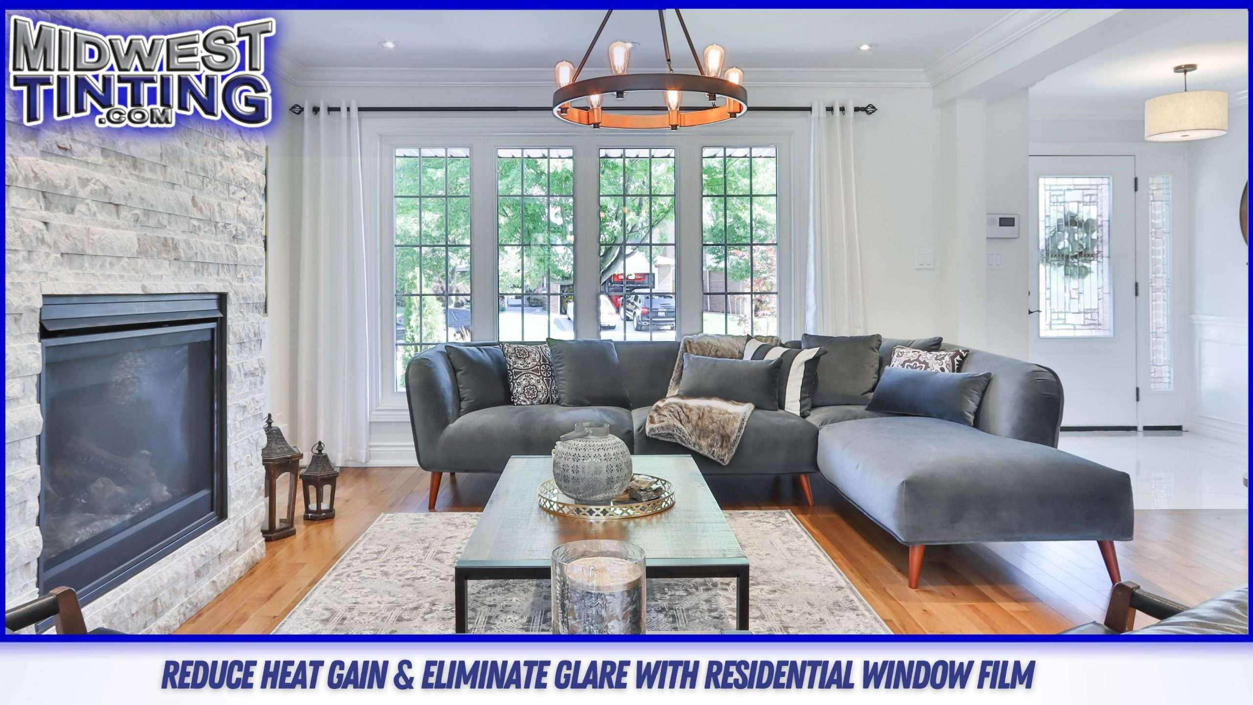 House Window Films Keep Your Home Cool As The Summer Heats Up - Home Window Tinting Services in Kansas City and Sunrise Beach, Missouri.